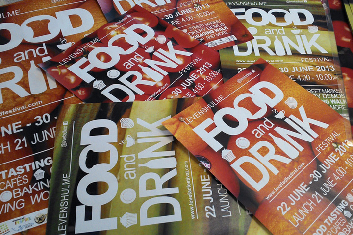 Brochure and Marketing material for Levenshulme Food and Drink Festival, Manchester :: June 2013