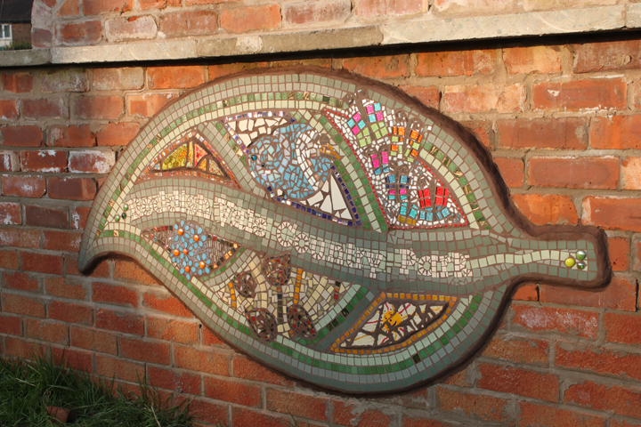 The mosaic was then created with pupils from the local school, visitors to the park and members of Arc